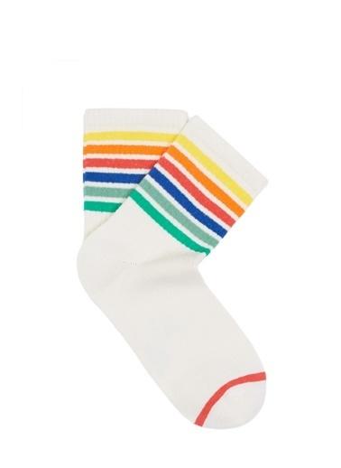 Mavi Çorap Ekru